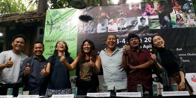 Festival Tepi Sawah press release di Kubu Kopi Denpasar/Pic by : Lingkara (Rudi Waisnawa)