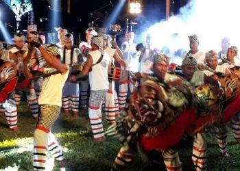 Atraksi Okokan di Festival Tepi Sawah, Pejeng, Gianyar/ Foto-foto: Agung Putradhyana