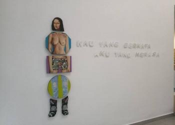 Instalasi DEkde Jaya Putra di Karja Art Space