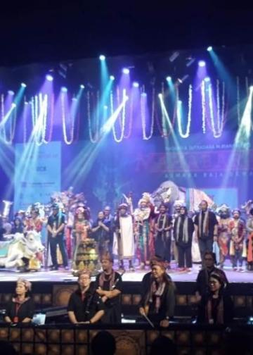 Pementasan Mahabrata – Asmara Raja Dewa, Garapan Teater Koma di Taman Izmail Marzuki,