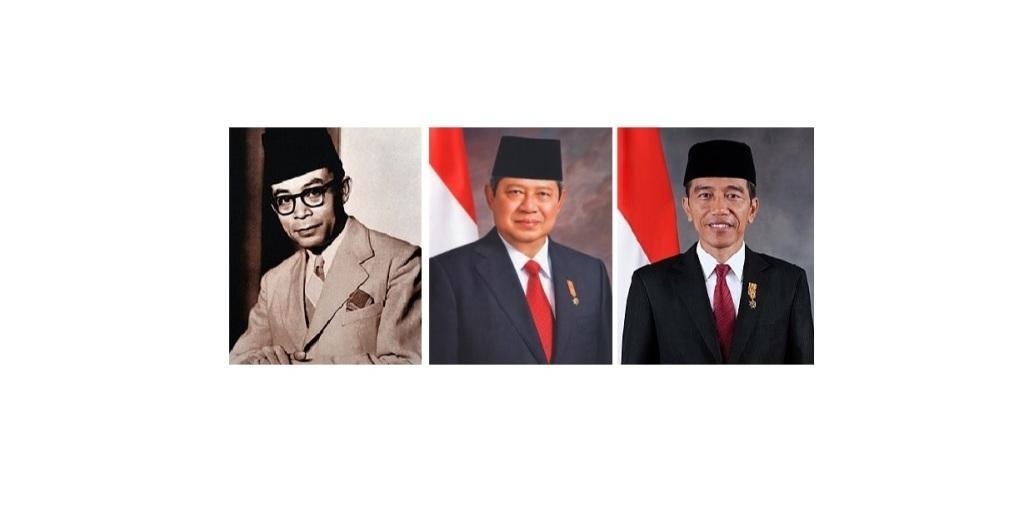 Hatta, SBY, Jokowi (Foto: Wikipedia)
