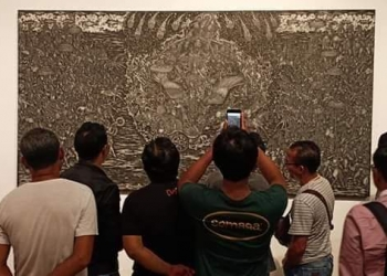 "Pemran lukisan ""Kawitan"" di Bentara Budaya Bali"