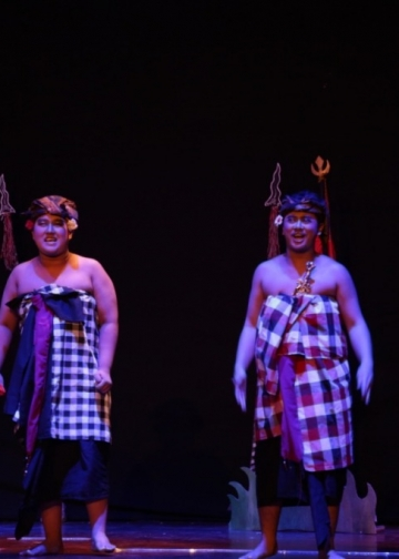 Pentas Drama Musikal Pan Balang Tamak, dipentaskan Yayasan Pendidikan Dria Raba di Gedung Ksirarnawa Taman Budaya Denpasar, 7 Mei 2019