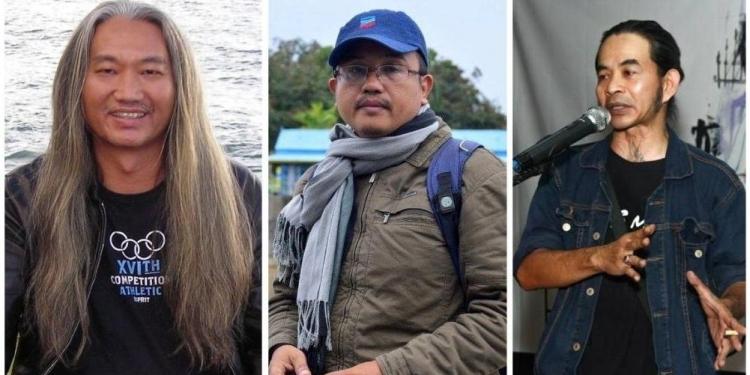Tan Lioe Ie, Raudal Tanjung Banua, dan Wayan Jengki Sunarta (Foto-foto diambil dari facebook)