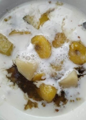 Bubur kacang ijo di Nyuh Kuning, Ubud