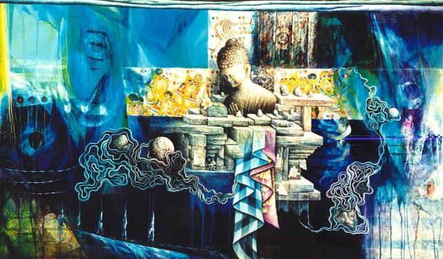 Wayan Redika, Purity of Universe, 2002, Oil, Acrylic on Canvas 100x135 cm
