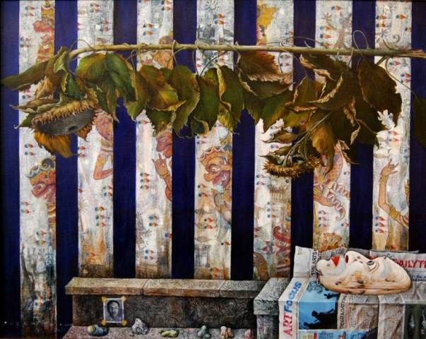Wayan Redika, Withered By The Greed#2, 2005, Oil-on-Canvas, 100x120cm, 300x238