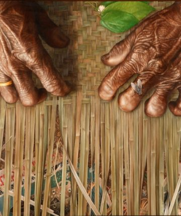 Wayan Redika, Magic Finger, 2008, Oil on Canvas, 90x150 cm