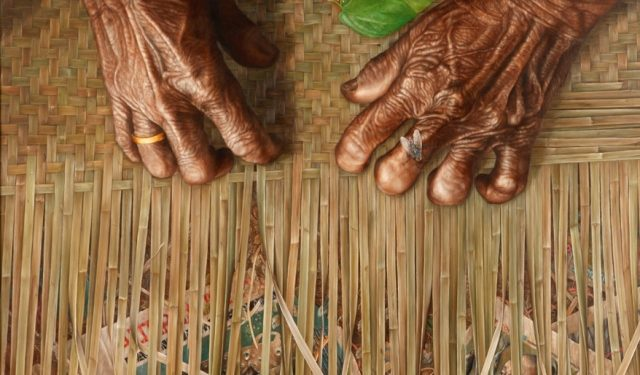 Wayan Redika, Magic Finger, 2008, Oil on Canvas, 90x150 cm