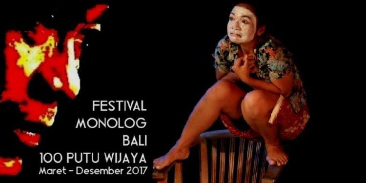 Dalam foto: Desi Nurani memantaskan monolog Mulut karya Putu Wijaya. Foto: Kardian Narayana