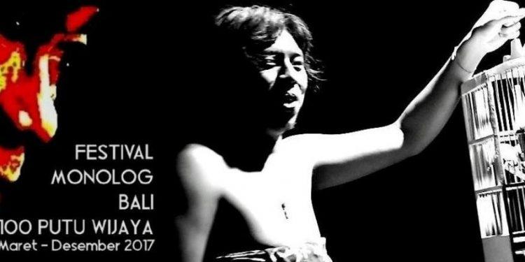 Pementasan monolog Julio Saputra dengan naskah Merdeka/ Foto: Mursal Buyung