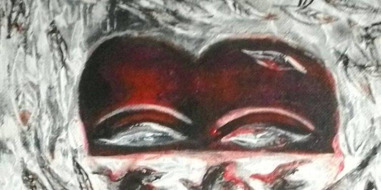 Ilustrasi: potongan lukisan Nyoman Wirata, Rohingya, akrelik dan kanvas, 2017