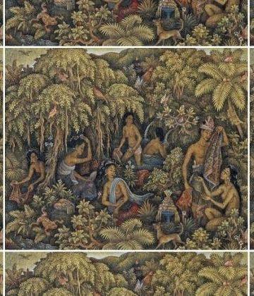 Lukisan: Ida Bagus Made Poleng (1915-1999)/ http://galeri-lukisan-indonesia.blogspot.co.id