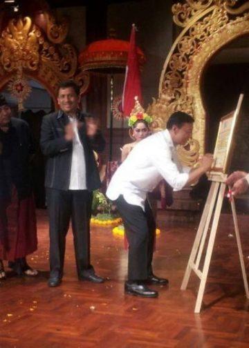 Menkopolhukam Wiranto pada pembukaan Rakornas KMHDI di Taman Budaya Denpasar, Kamis 31 Agustus 2017