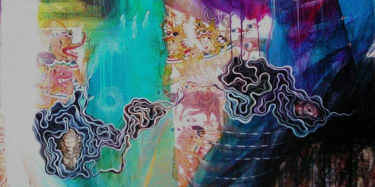 Wayan Redika, Blessing, 2005, Acrylic On Canvas, 100x100cm
