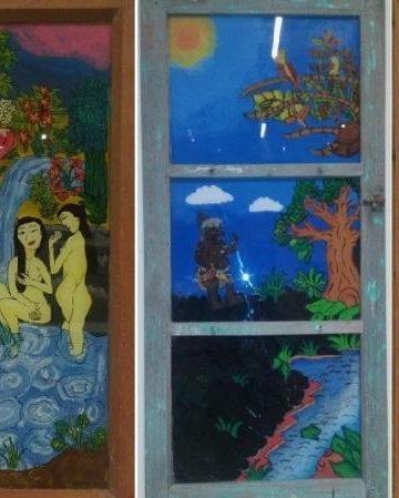 Karya-karya pelukis Komunitas Batu Belah yang dipamerkan di Bentara Budaya Bali