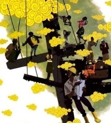 Ilustrasi diolah dari gambar cover novel Orang-orang Proyek karya Ahmad Tohari terbitan Gramedia Pustaka Utama
