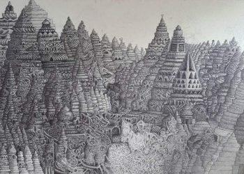 Lukisan candi karya Asehou Jayakatowan