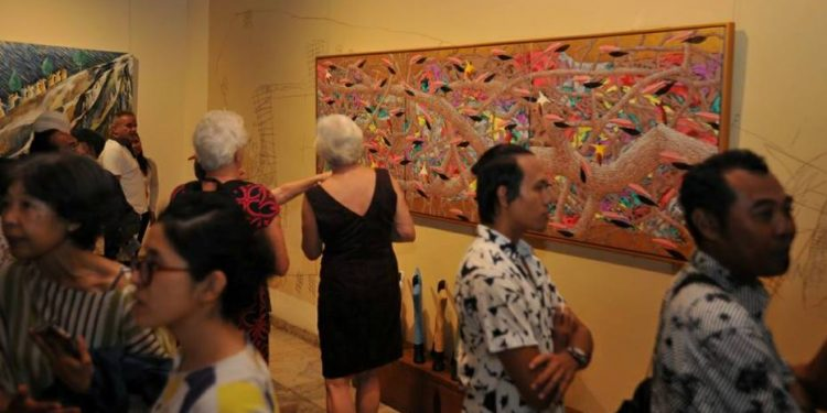 Pameran B to B di Komaneka Fine Art Gallery, Ubud. /Foto: Sujana Kenyem