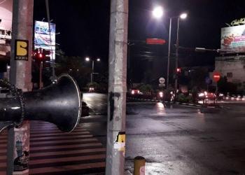 Megaphone Pak Ogah. (Foto diambil dari facebook Pakogah Tamanpancing)