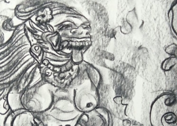 Lukisan Komang Astiari (croping)
