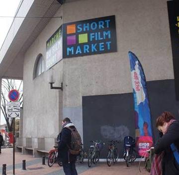 Suasana pintu masuk di Short Film Market 2019 di Perancis. (Foto: Dok Edo Wulia)