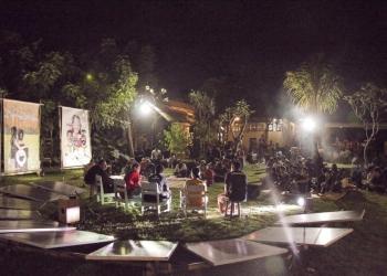 Energi solar panel dalam acara Pra Bali Yang Binal di TBK. (Foto by @hadhi kusuma)