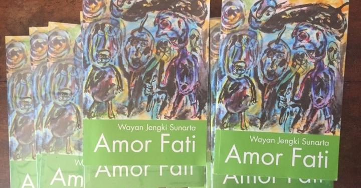 Buku kumpulan puisi Amor Fati karya Wayan Jengki Sunarta