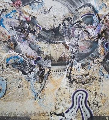 Nyoman Erawan:Shadow Dance,200cmx500cm,Mixed Medium.