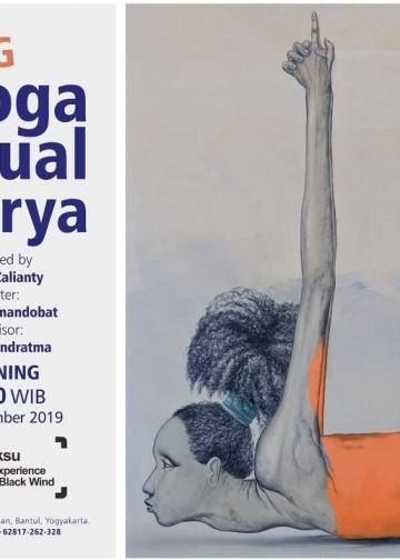 Poster pameran dan karya I Nyoman Darya