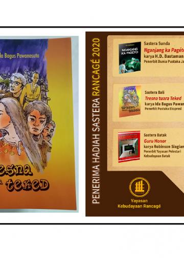 """Novel """"Tresna Tuara Teked"""" Ida Bagus Pawanasuta Raih Hadiah Rancage  2020"""
