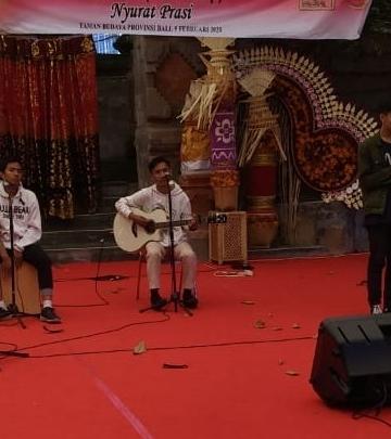 Pusaka Putih Gladi Musikalisasi dalam Bulan Bahasa Bali 2020